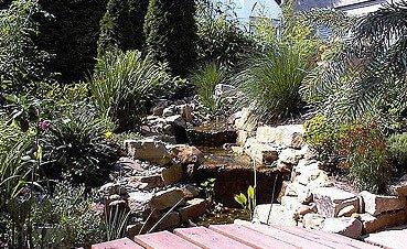 Teichanlage mit Terrasse