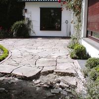 Eine Terrasse in der Entstehung